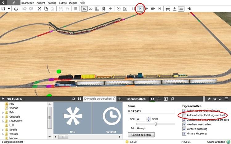 Anfänger & Blocksteuerung - Probleme und Lösungen - 3D-Modellbahn Studio