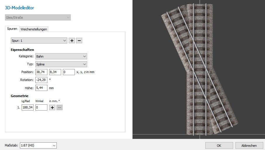 henrys virtuelle trassen anleitungen und tutorials 3d. Black Bedroom Furniture Sets. Home Design Ideas